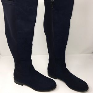 Suede Liz Claiborne knee Hight boots Sz:8M